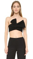 Cushnie Et Ochs Bow Crop Top Black
