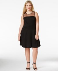 Love Squared Plus Size Sleeveless A Line Dress Black