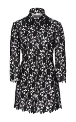 Monique Lhuillier Floral Embroidered Jacket Black
