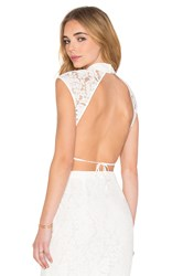 Sau Zoe Backless Crop Top White