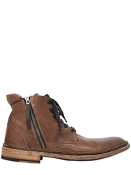 Bruno Bordese Zipped Laced Leather Boots Brown