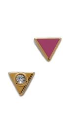 Marc By Marc Jacobs Triangle Stud Earrings Fuschia Purple