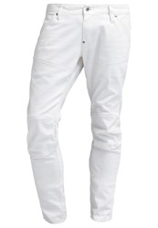 G Star Gstar 5620 3D Super Slim Slim Fit Jeans Inza White Stretch Denim Raw Denim