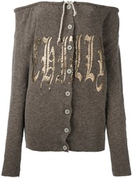 Vivienne Westwood Off The Shoulder Cardigan Brown