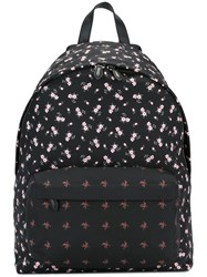 Givenchy Contrast Floral Print Backpack Black