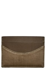 Skagen Men's 'Torben' Card Case Green Olive