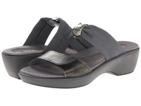 Naot Footwear Pinotage Metal Leather Gray Stretch Women's Sandals