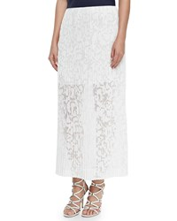 Theory Delva Pleated Burnout Maxi Skirt White