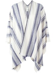 Forte Forte Striped Poncho Nude And Neutrals