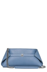Akris 'Ai Small Chain Pouchette' Cervo Leather Satchel Sky