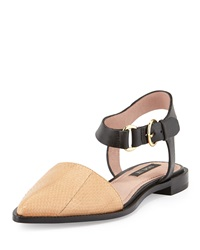 Rachel Zoe Iris Snake Skin And Leather Sandal Rose