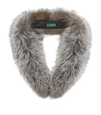 Holland Cooper Fox Fur Scarf Female Silver