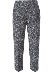Paul By Paul Smith Cropped Woven Trousers Blue