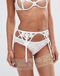 Bluebella Nova Bridal Suspender Ivory White