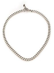 Giles And Brother Railroad Chain Necklace Silvertone