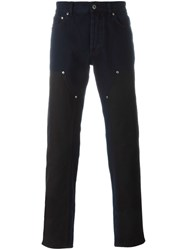 Givenchy Contrast Panel Jeans Blue