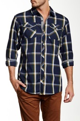Burnside Plaid Long Sleeve Shirt Blue