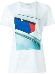 Carven Front Print T Shirt White