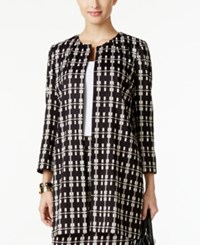 Alfani Plaid Blazer Only At Macy's Elegant Plaid Combo