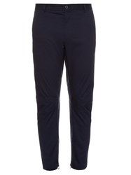 Lanvin Zip Cuff Cotton Poplin Trousers Navy