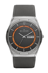 Skagen 'Melbye' Round Mesh Strap Watch 40Mm Gunmetal