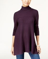 Styleandco. Style Co. Turtleneck Tunic Sweater Only At Macy's Dark Grape