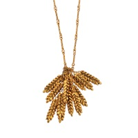 Aurelie Bidermann Long Wheat Twisted Chain Necklace