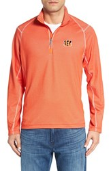 Tommy Bahama Men's 'Nfl Double Eagle' Quarter Zip Pullover Bengals