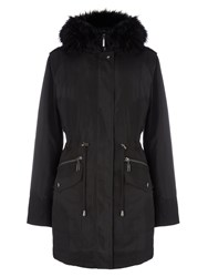 Phase Eight Giana Glam Parker Coat Black