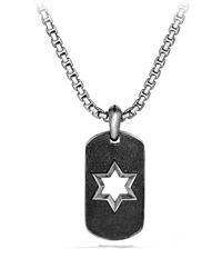 Star Of David Tag Chain Necklace David Yurman