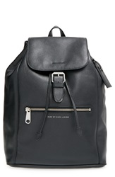 Marc By Marc Jacobs 'Embossy' Leather Backpack Black
