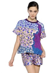 Peter Pilotto Short Sleeve Printed Cotton Sweatshirt