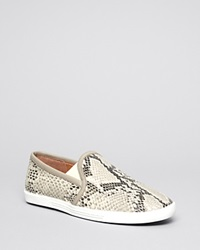 Joie Flat Slip On Perforated Sneakers Kidmore Black White