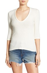 Project Social T Women's Scoop Neck Ribbed Tee Ivory