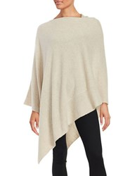 Lord And Taylor Cashmere Poncho Stone Heather