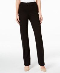 Charter Club Solid Ponte Straight Leg Pant Only At Macy's Deep Black