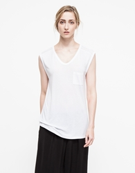 Alexander Wang Classic Muscle Tee With Pocket Heather Grey