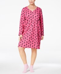 Charter Club Plus Size Printed Sleepshirt And Socks Set Only At Macy's Playful Scotty