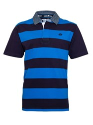 Raging Bull Stripe Regular Fit Rugby Top Navy