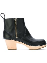 Swedish Hasbeens 'Zipemy' Boots Black