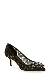 Women's Dolce And Gabbana Pointy Toe Pump Black Lace