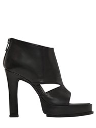 Ann Demeulemeester 115Mm Leather Open Toe Ankle Boots