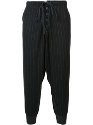 Greg Lauren Striped Lounge Pants Grey