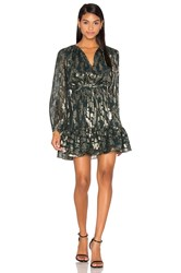 Cynthia Rowley Metallic Boho Dress Metallic Gold
