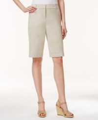 Charter Club Petite Bermuda Shorts Only At Macy's Sand