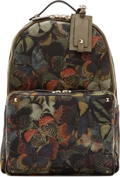 Valentino Green Camo Butterfly Rockstud Backpack