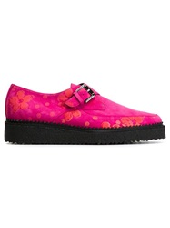 Markus Lupfer Flower Printed Creepers Pink And Purple