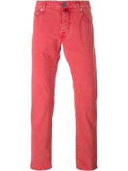 Jacob Cohen Slim Fit Chinos Red