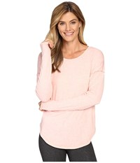 Lucy Final Rep Long Sleeve Top Rose Gold Heather Women's Long Sleeve Pullover Pink