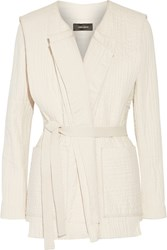 Isabel Marant Bering Quilted Cotton Jacket White